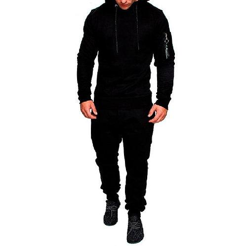 2018 New Camouflage Print Men Sport Set Autumn Trendy Tracksuit long Sleeve Hood