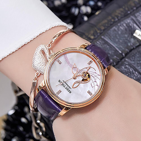 2020 Reef Tiger/RT Women Fashion Watches New Rose Gold Luxury Automatic Watches