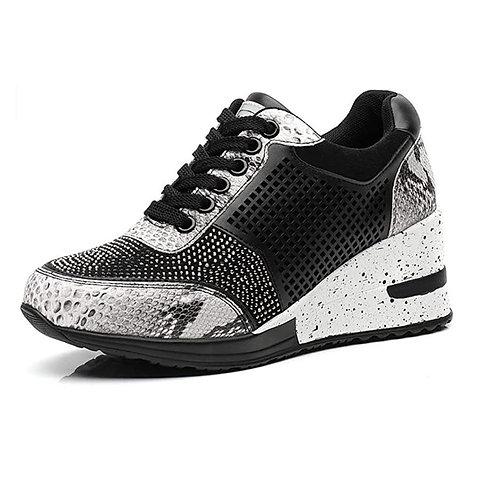 Women Walking Sport Shoes 6 CM Increasing Running Jogging Sneakers Breathable Br