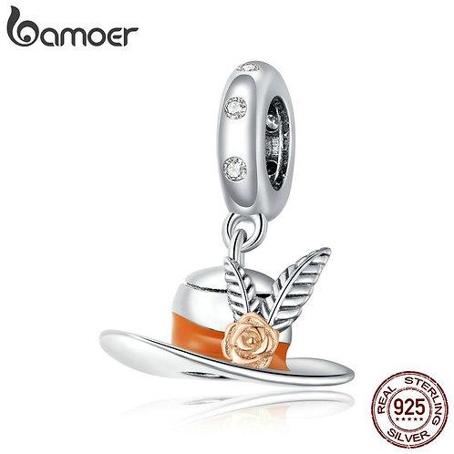 bamoer 2020 925 Sterling Silver Top Hat Pendant Charm fit Original Bracelet Neck