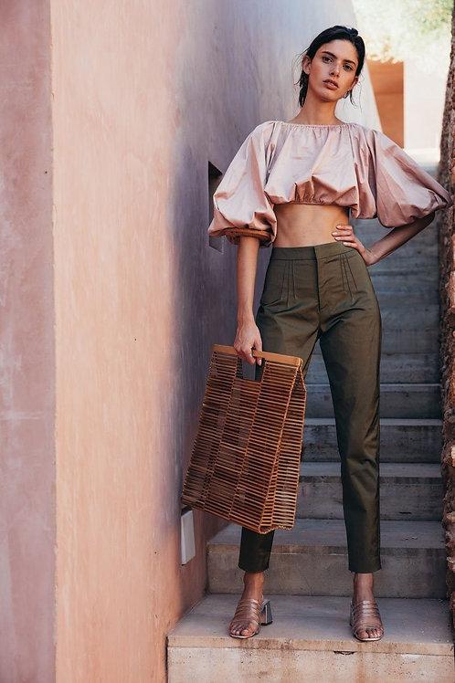 AEL Simple Slim Women Pencil Pants Army Green Fashion Street Clothing 2018 Summe