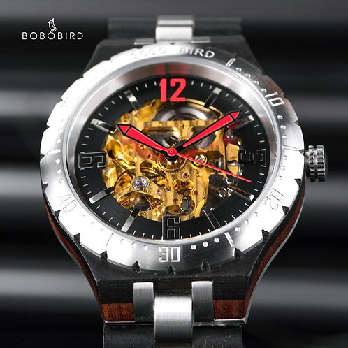 BOBO BIRD Mechanical Watch Men erkek saat Man's Wristwatch addiesdive uhren herr