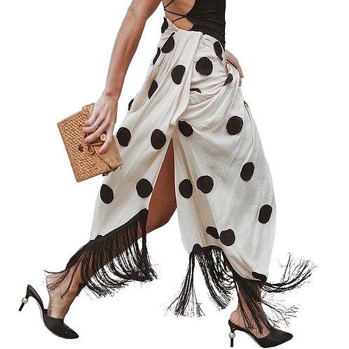 AEL High Split Skirt Draped Asymmetric Woman New Summer Romantic  2019 Fashion F