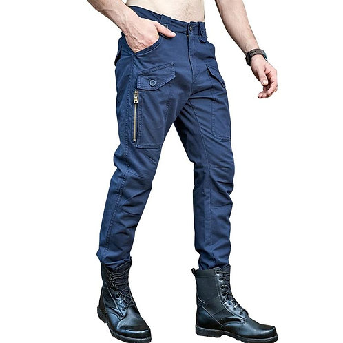 drop shipping men cargo pants multi pocket military overall cotton long casual t