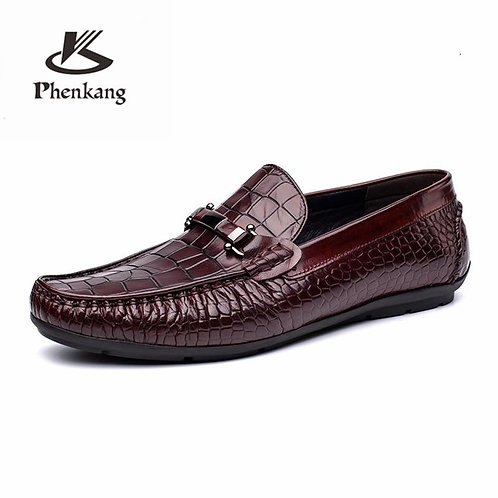 Men genuine leather casual shoes business dress banquet suit shoes men brand Bul