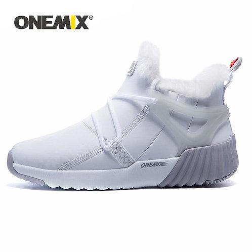 ONEMIX 2020 Winter Boots For Men Warm Fur Skin-friendly Waterproof Snow Ankle Bo