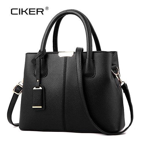 CIKER New Fashion Women Leather Handbags PU Women Bag High Quality Luxury Large