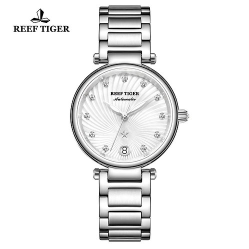 2020 New Reef Tiger/RT Top Brand Luxury Fashion Watches Women Stainless Steel Di
