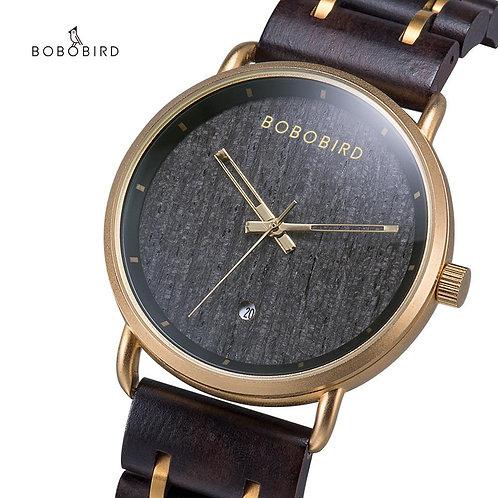 BOBO BIRD Watch Wood Men Quartz Clock orologio uomo Calendar Auto Date Timepiece