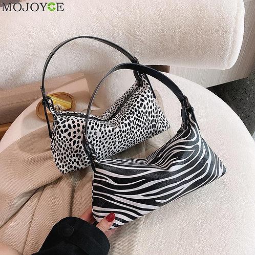 Retro Leopard Zebra Women Shoulder Crossbody Bag Women Animal Print Shoulder Sat