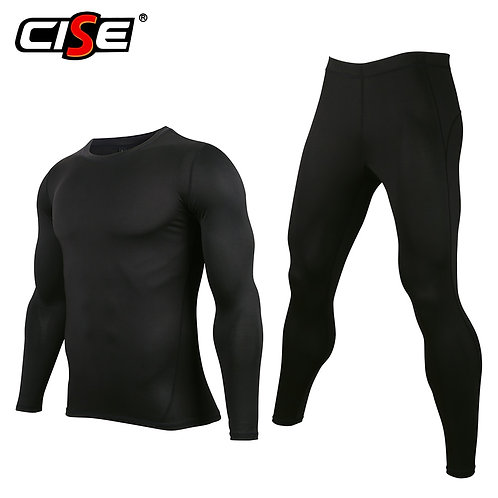 Men's Underwear Set Base Layer Motorcycle Motocross Ski Snowboard Breathable