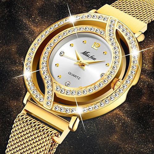 2020 MISSFOX Luxury Women Watches Magnetic Female Clock Hollow Bezel Quartz Wris