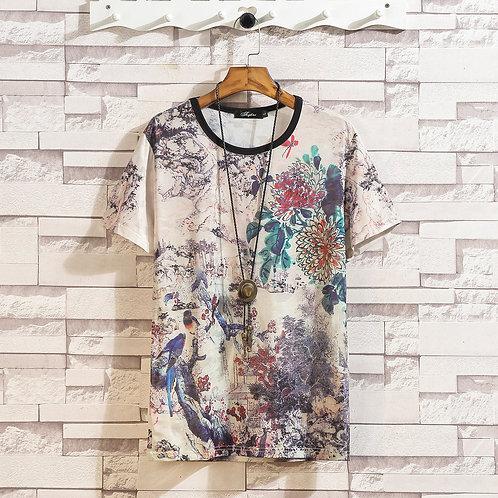 Short Sleeve T Shirt  2021 Summer High Quality T-shirt Top Tees 3D Print Brand
