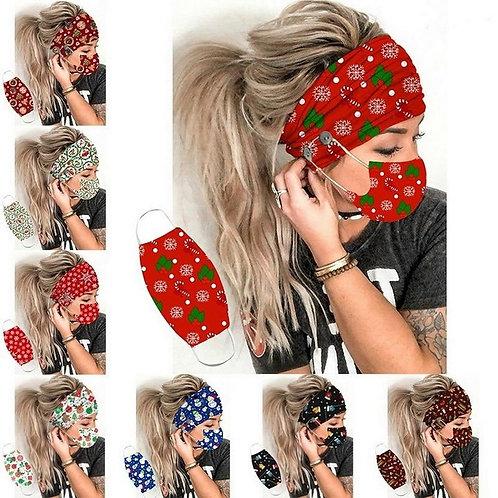 Christmas Print Earmuff Headbands With Button For Women Outdoor Headwear 2020 Ne