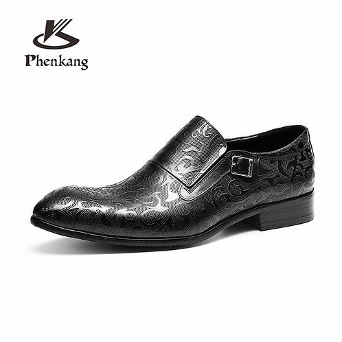 Genuine leather men brogue shoes business dress banquet suit shoes men brand Bul