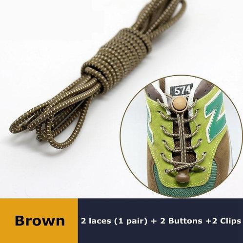 1Pair 23 colors Sneaker ShoeLaces Elastic No Tie Shoe Laces Stretching Lock Lazy