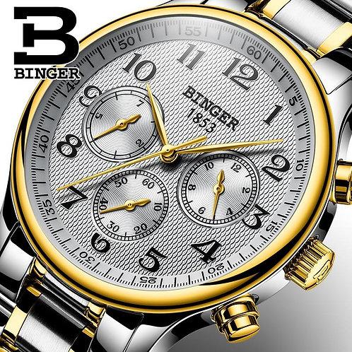 Multifunction BINGER Watches Business Automatic Watch Men Luxury Brand Multiple