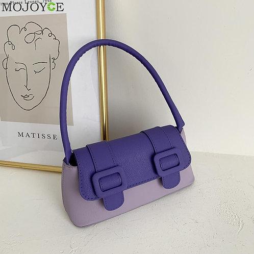 Classic Texture Vintage Hit Color Women Handbag Female Creative Design Chic PU L