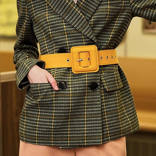 AEL Fashion Belts for Women Vintage fabric Waist buckle with silvery GROMMET wid