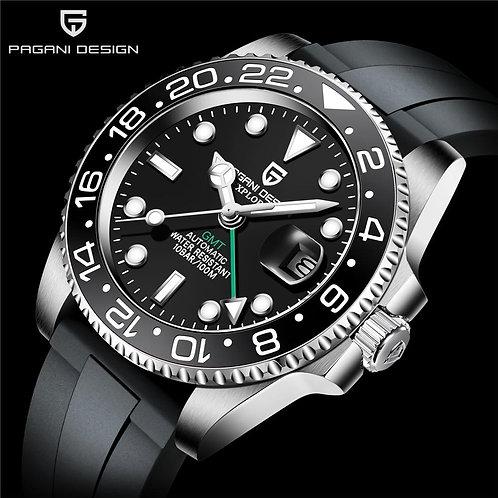 PAGANI DESIGN Automatic Mechanical Watch Luxury Sapphire Glass Ceramic Bezel 40m