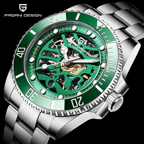2020 New PAGANI DESIGN Brand Men Watch Automatic Mechanical Stainless Steel Sapp