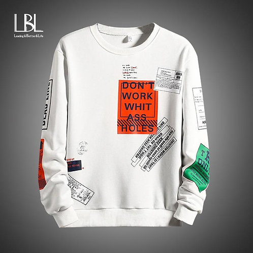 2020 Spring New Arrival Men's Sweatshirt Fashion Patchwork Hoodies Mens Casual L