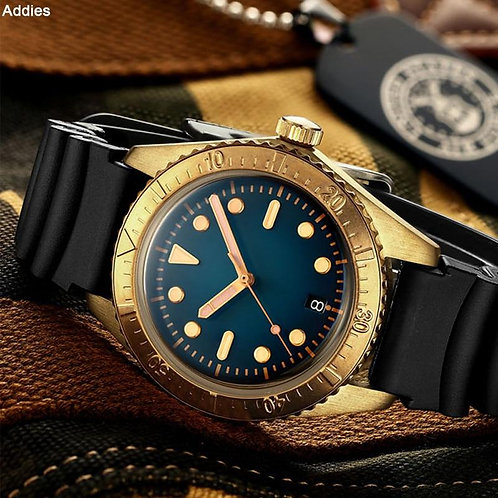 1965 Luxury Bronze Diver Watches Men Mechanical Watch NH35 C3 Luminous Automatic