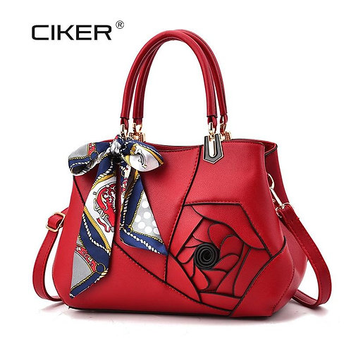 CIKER Fashion New Rose Pattern Top-Handle Bags High Quality Luxury Shoulder Feam