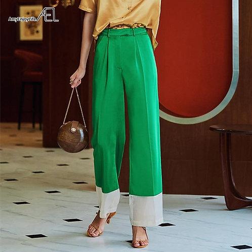AEL Trouser For Women High Waist Causal Loose Wide Leg Pants Panelled chic  Fema