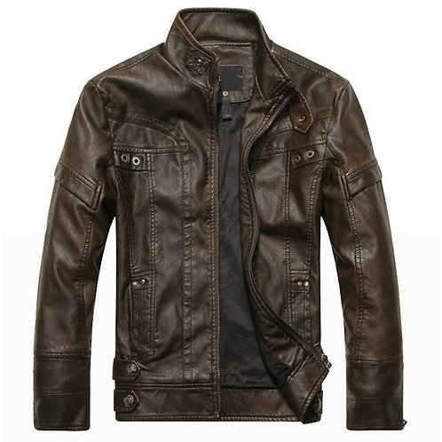 Autumn men motorcycle leather jacket men's leather jacket jaqueta de couro mascu