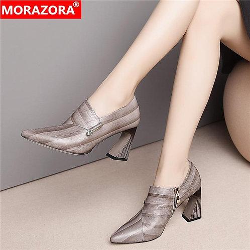 MORAZORA 2020 spring autumn women pumps high heels fashion pointed toe ladies sh