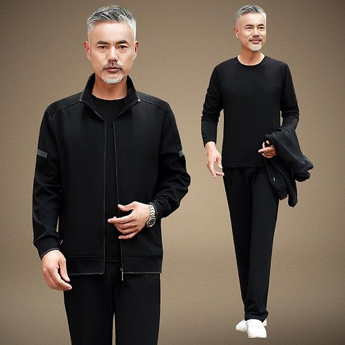 3-piece Set Autumn Winter Warm Men 2019 Mens Clothing Pull Homme Clothing Mens T