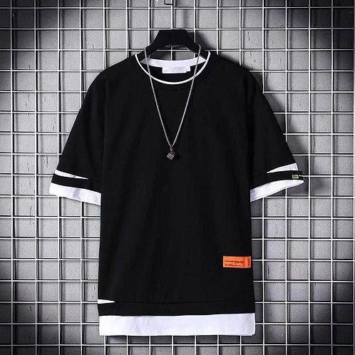 2020 Fashion Men T-shirt Slim Fit Hole T-shirt Men Hip Hop Streetwear O Neck Sho
