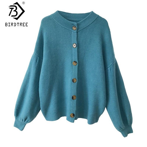 6 Colors 2020 Fall Winter Women Long Sleeve Cardigans Ladies Loose Knitted Sweat
