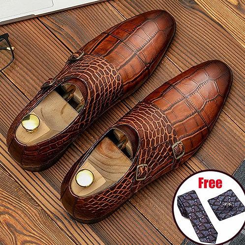 Men genuine leather shoes business dress suit shoes men brand Bullock genuine le