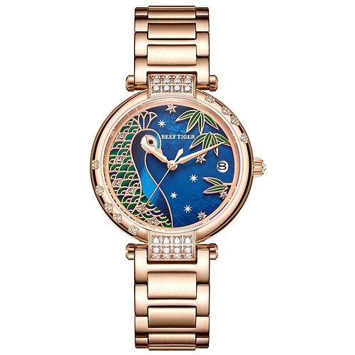 2020 Reef Tiger/RT Top Brand Luxury Women Watch Rose Gold Bracelet Automatic Mec