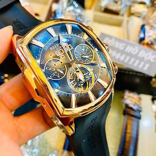 Reef Tiger/RT Top Brand Luxury Sport Big Watch For Men Mechanical Tourbillon Spo