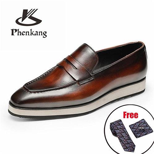 Men leather shoes business dress suit shoes men brand Bullock platform genuine l