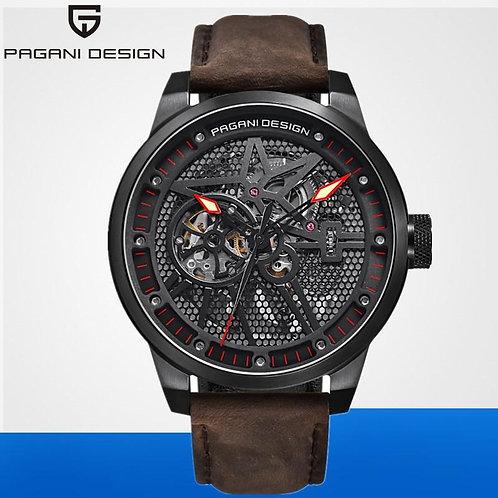 PAGANI DESIGN Fashion luxury Brand Watch 2019 Men Leather Sports Mechanical Auto