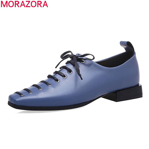 MORAZORA 2020 spring autumn fashion casual shoes high quality sheepskin women sh