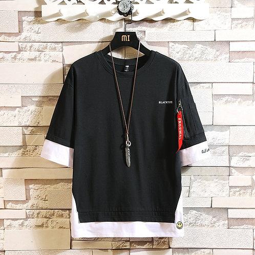 Fashion Half Short Sleeves Fashion O NECK Print T-Shirt
