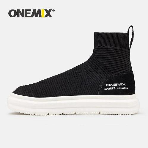 ONEMIX Outdoor Trekking Sneakers Height Increasing Running Shoes Sock Ankle Boot