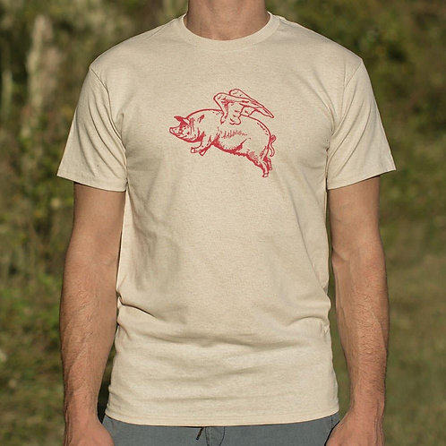 Flying Pig T-Shirt (Mens)