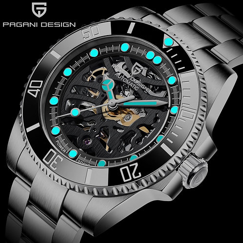 PAGANI DESIGN Men's Mechanical Watches Sapphire Luxury Automatic Watch 100M Wa
