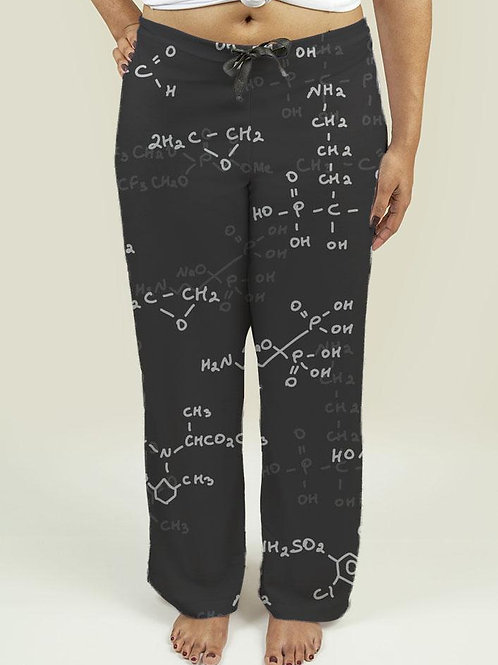 Ladies Pajama Pants with Seamless pattern