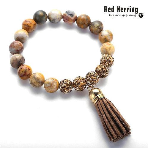 Fashion Women Dress Stone Armband Crazylace Agat Tassel Bracelets