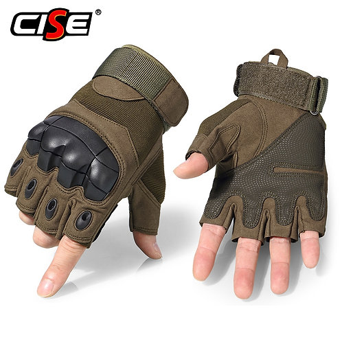 Motorcycle Fingerless Gloves Cycling Motorbike