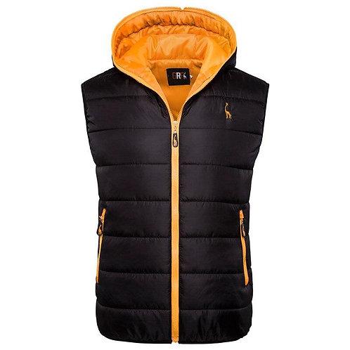 New Giraffe Brand Winter Jacket Men Hoodied Vest Men Zipper Mens Jacket Sleevele