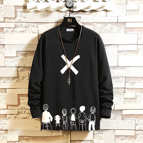 Autumn Spring Black White Tshirt Top Tees 2021 Style Brand Fashion