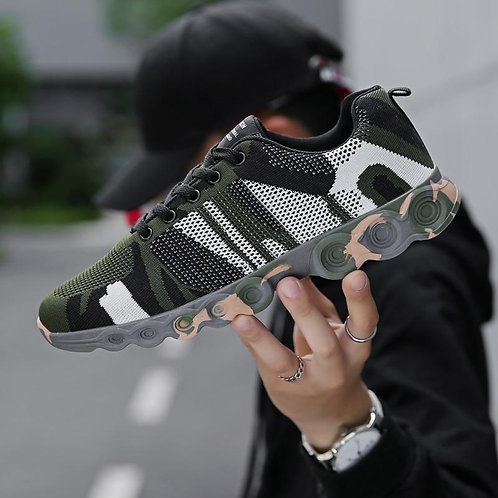 Men Running Shoes Camouflage Sneakers Lightweight Outdoor Sport Shoes Soft Comfo
